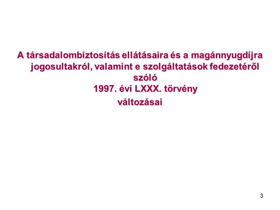 14 Nem fizet munkaerő-piaci járulékot új szakaszként került be a 25/A §:  a) a Tbj.