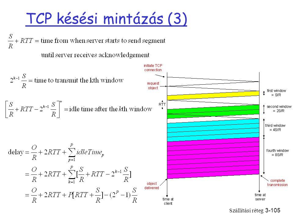Szállítási réteg3-105 TCP késési mintázás (3)