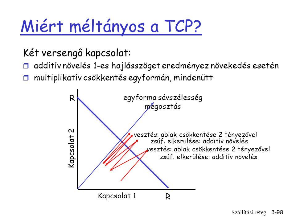 Szállítási réteg3-98 Miért méltányos a TCP.
