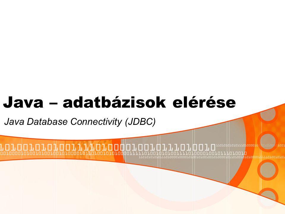 JDBC Call Level Interface (CLI): standard, ami definiálja, hogy egy program hogyan kommunikálhat egy adatbázis management rendszerrel (DBMS).