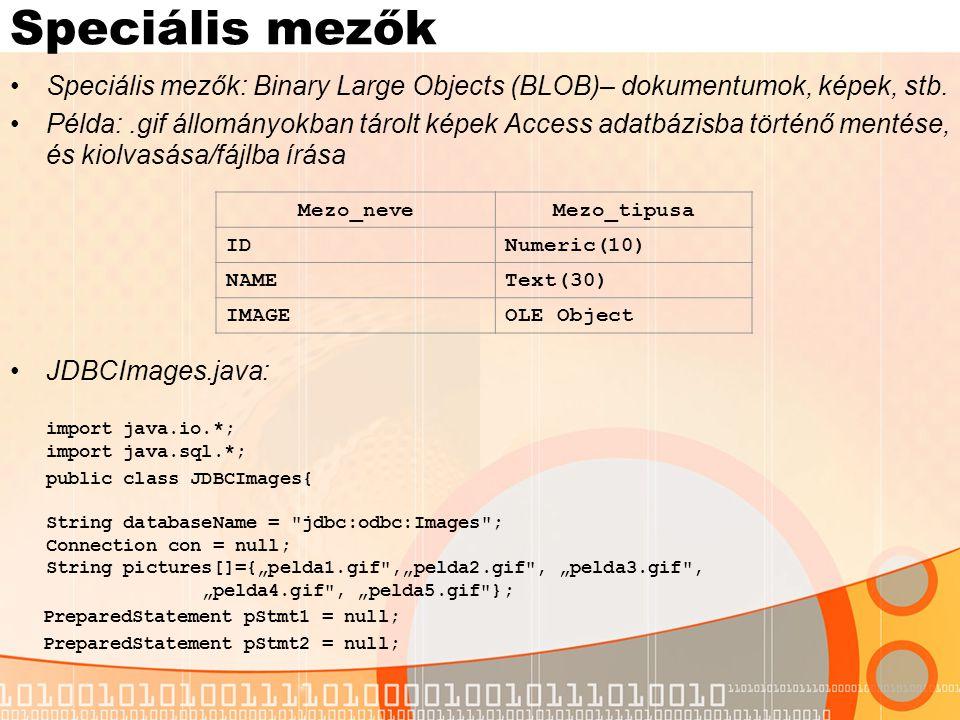 Speciális mezők – példa – II.