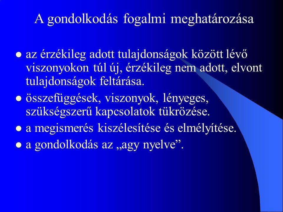 A gondolkodás és a logikai következtetések a szillogizmus, mint a következtetésekkel kapcsolatos rendszer (Arisztotelész) –főpremissza: Minden ember halandó.