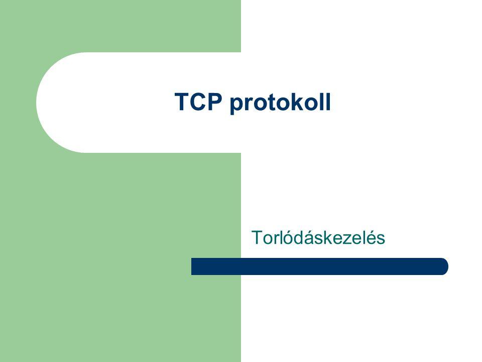 Feladata: hibamentes kommunikáció (end-to-end) Funkciók: – fragmentálás/defragmentálás (bitfolyam tördelése csomagokra) – sorrendhelyesség – adatvesztés nélkül – hibajavítás (ismétlés) – torlódásvezérlés és torlódásvédelem A szállítási protokoll (TCP)