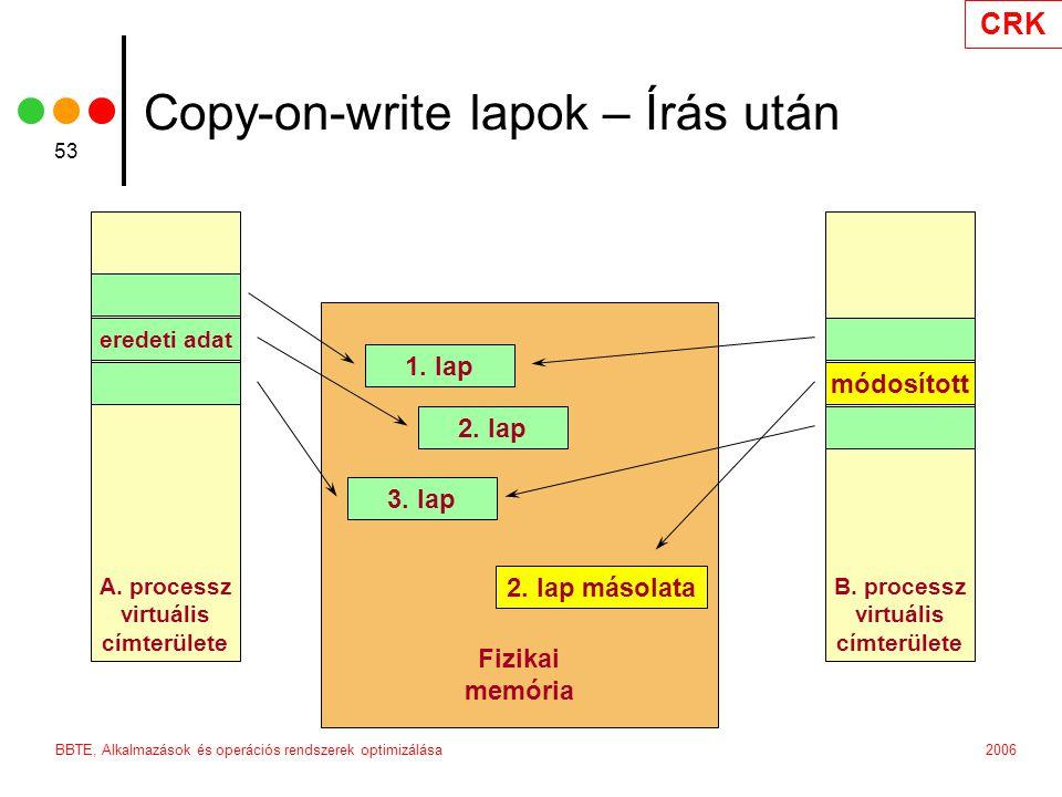 CRK 2006BBTE, Alkalmazások és operációs rendszerek optimizálása 53 B.