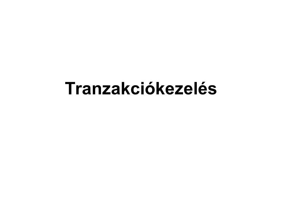 Tranzakció - az adatbázison végzett műveletek (parancsok) sorozata, mely az ABKR szempontjából egy egységet alkot, olyan értelemben, hogy vagy az egész tranzakciót végrehajtja, ha ez lehetséges, ha nem lehetséges, akkor egyáltalán semmi változtatást ne végezzen az adatbázison.