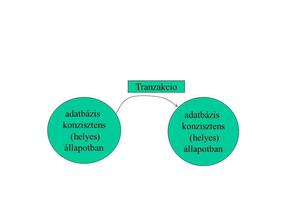 A tranzakció a konkurencia egysége; A tranzakció a helyesség egysége; A tranzakció a visszaállítás egysége.