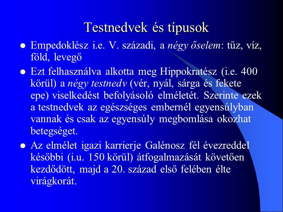Testnedvek és típusok Empedoklész i.e.V.