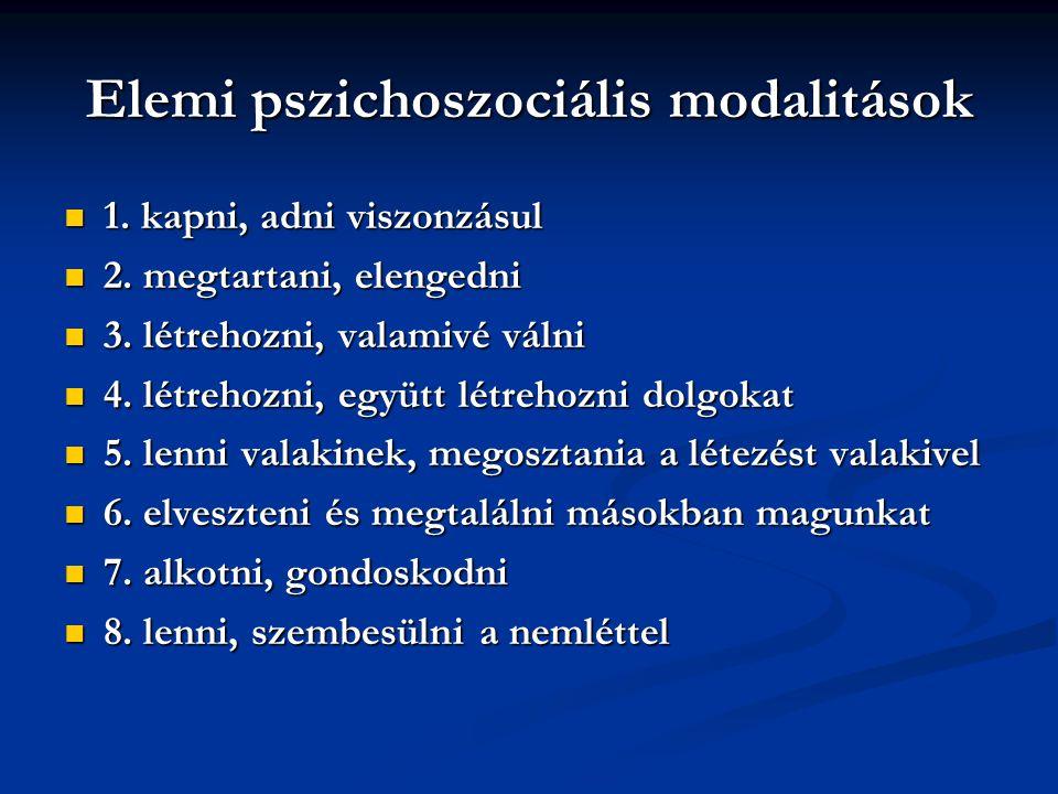 Pszichoszociális fejlődés – E.