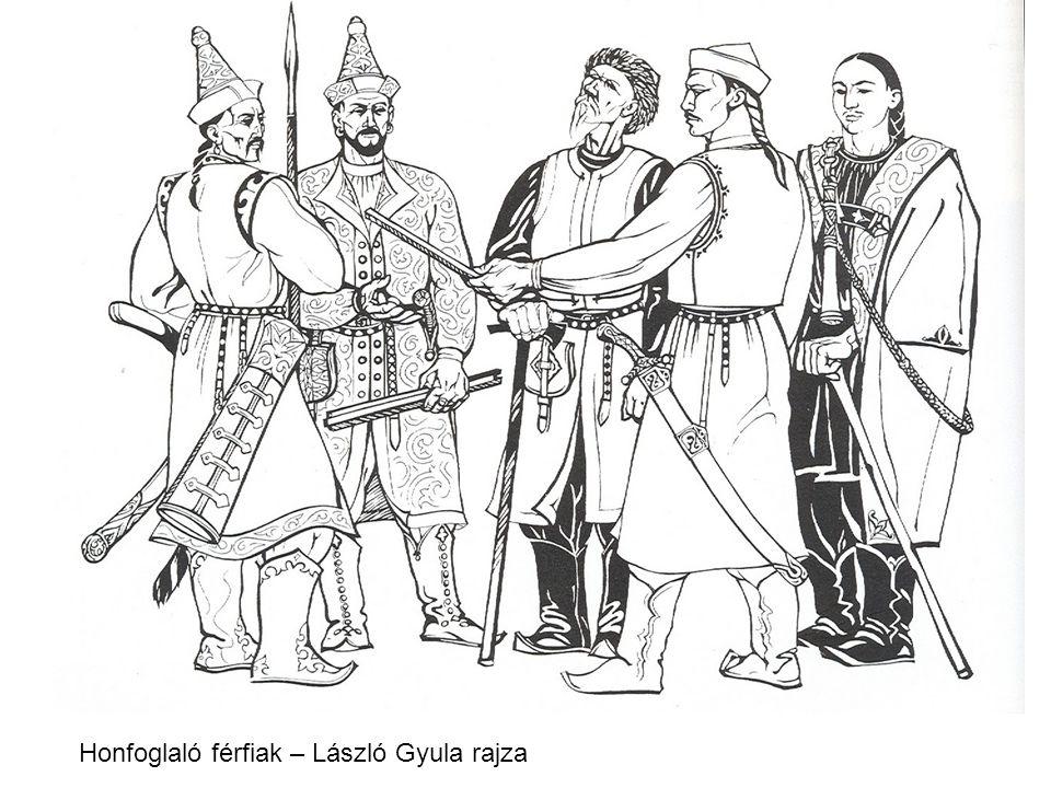 Honfoglaló férfiak – László Gyula rajza