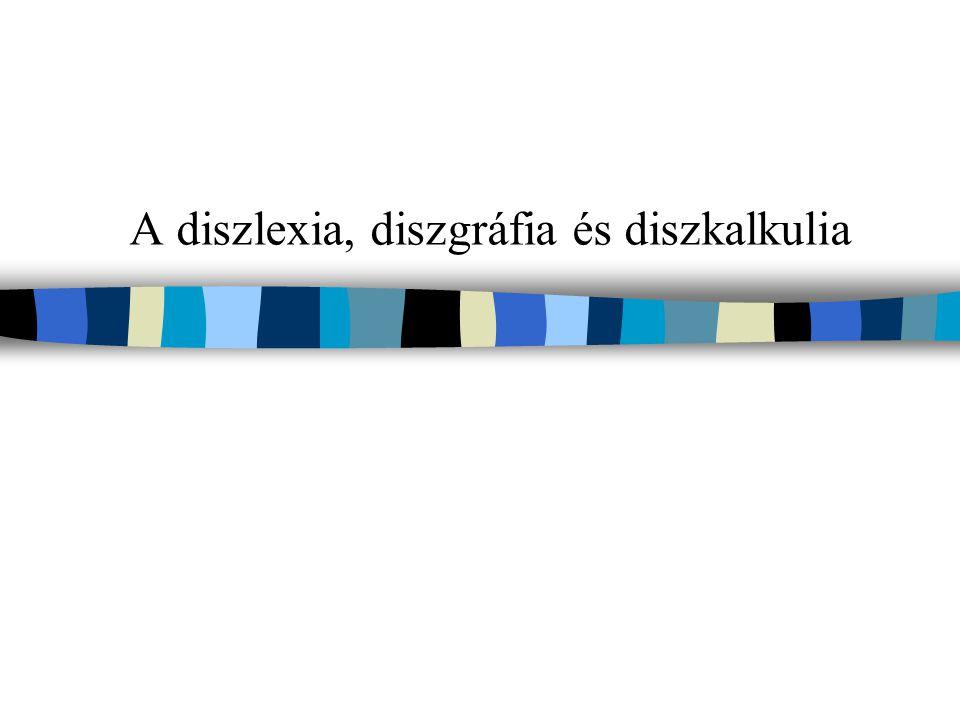 Leírás, meghatározás A diszlexia és diszgráfia szó a görögből származik, jelentése: düsz 'rosszul, gyengén, hibásan'; lexisz, tkp.