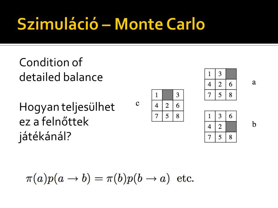 Condition of detailed balance Hogyan teljesülhet ez a felnőttek játékánál