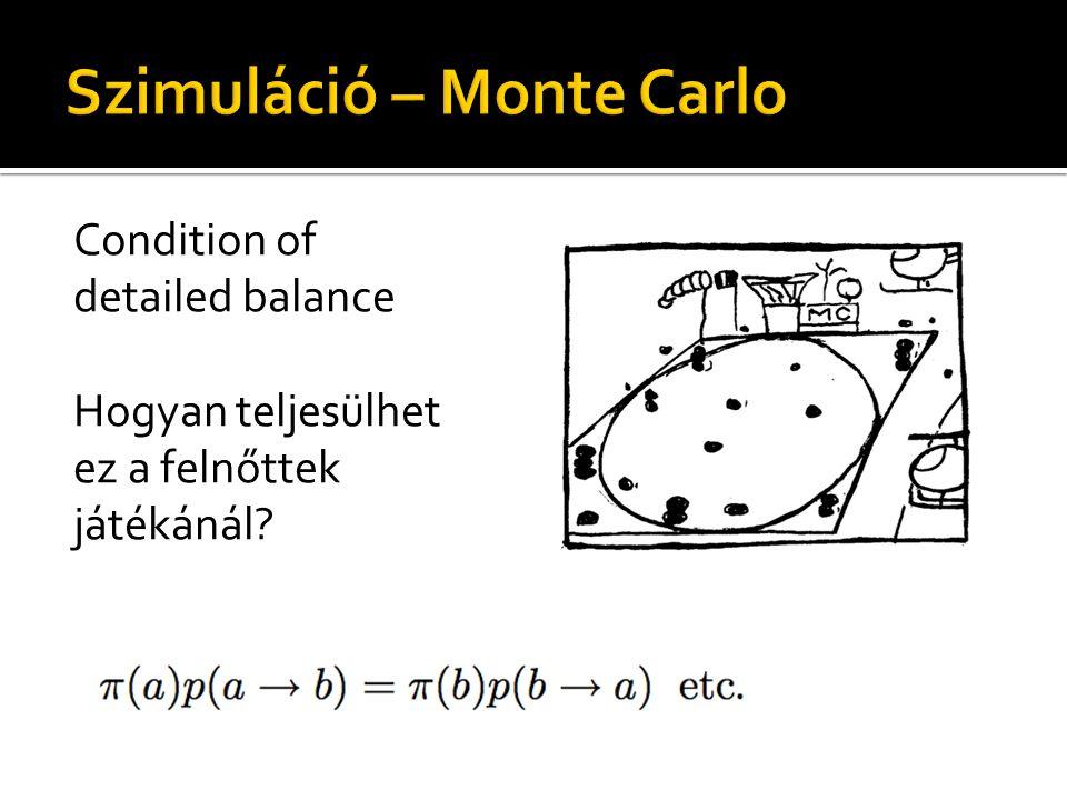 Condition of detailed balance Hogyan teljesülhet ez a felnőttek játékánál?