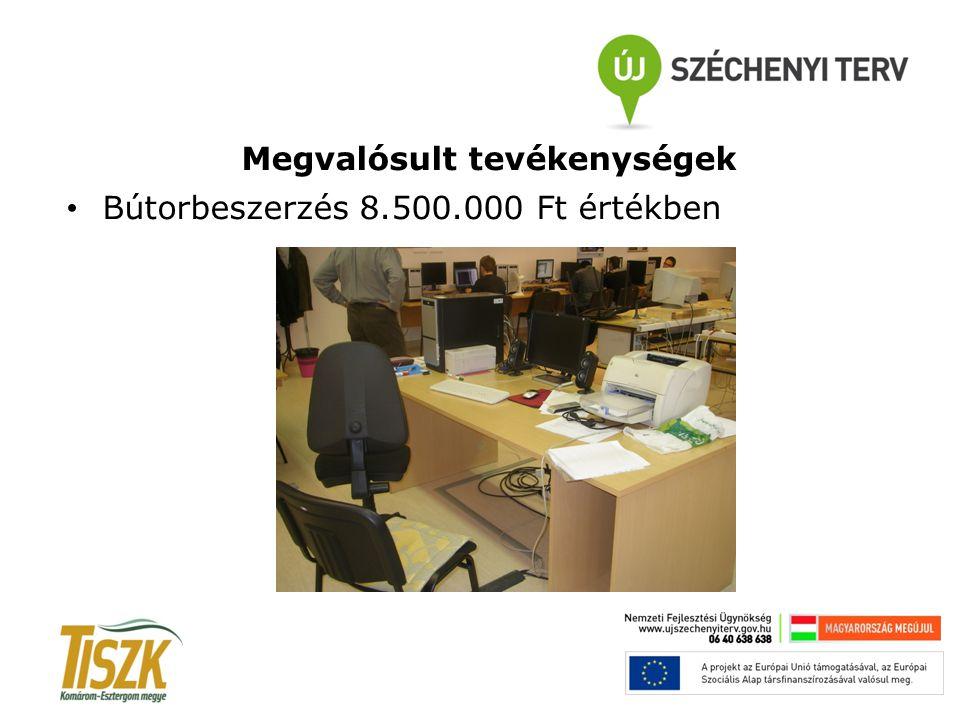 Megvalósult tevékenységek Bútorbeszerzés 8.500.000 Ft értékben