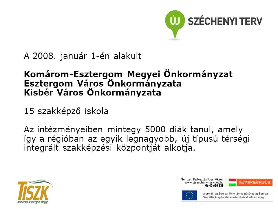 A 2008. január 1-én alakult Komárom-Esztergom Megyei Önkormányzat Esztergom Város Önkormányzata Kisbér Város Önkormányzata 15 szakképző iskola Az inté