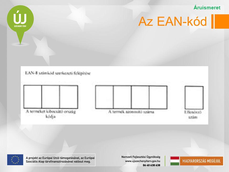 Az EAN-kód Az EAN-8 kód szerkezete: Áruismeret