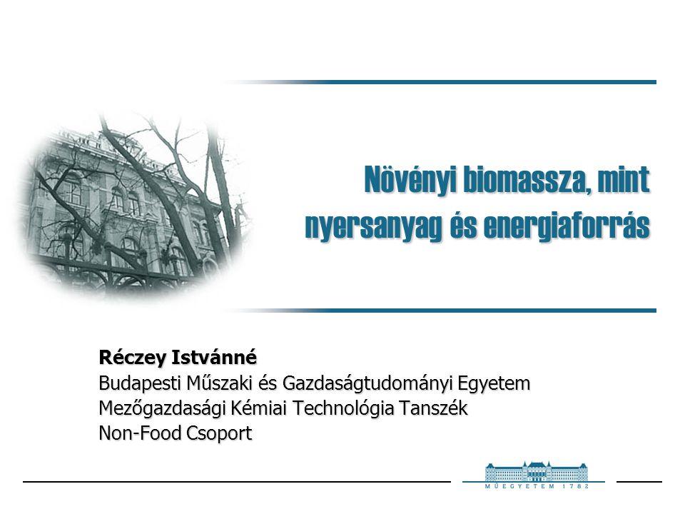 Budapest, 2005. január 19 22 Kezeletlen kukoricaszár összetétele hemicellulóz