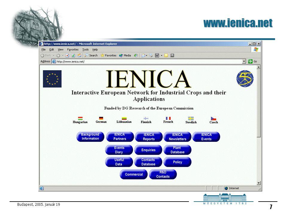 Budapest, 2005. január 19 7 www.ienica.net