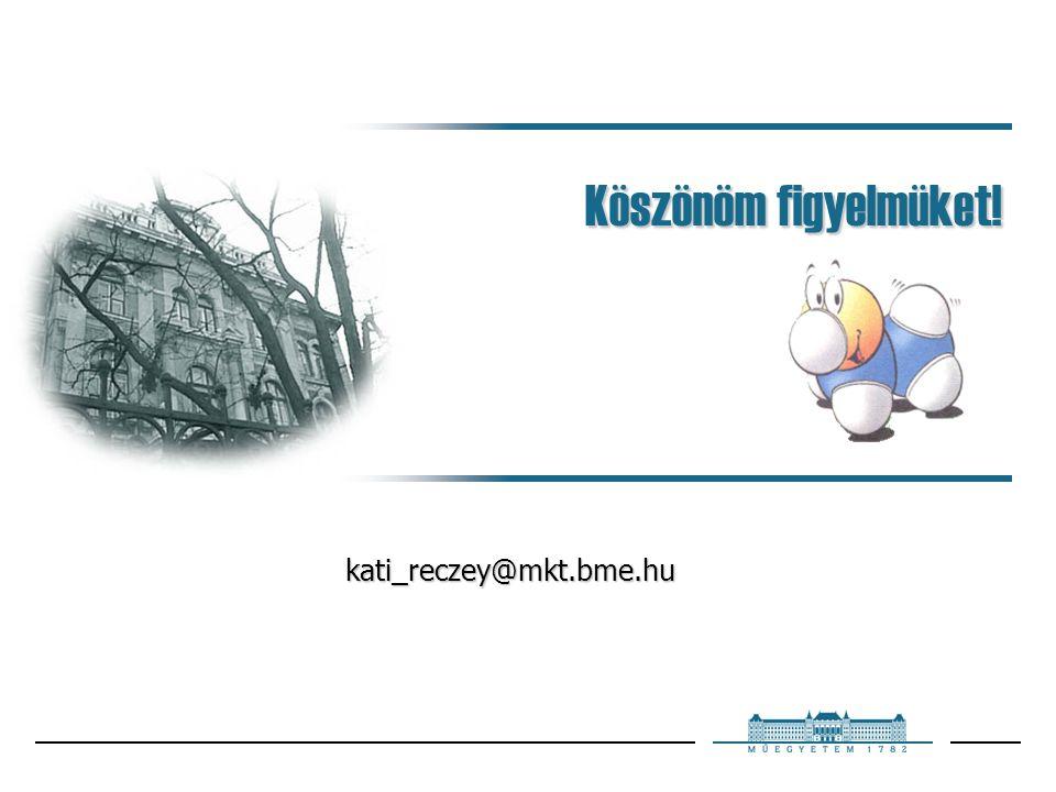 Köszönöm figyelmüket! kati_reczey@mkt.bme.hu