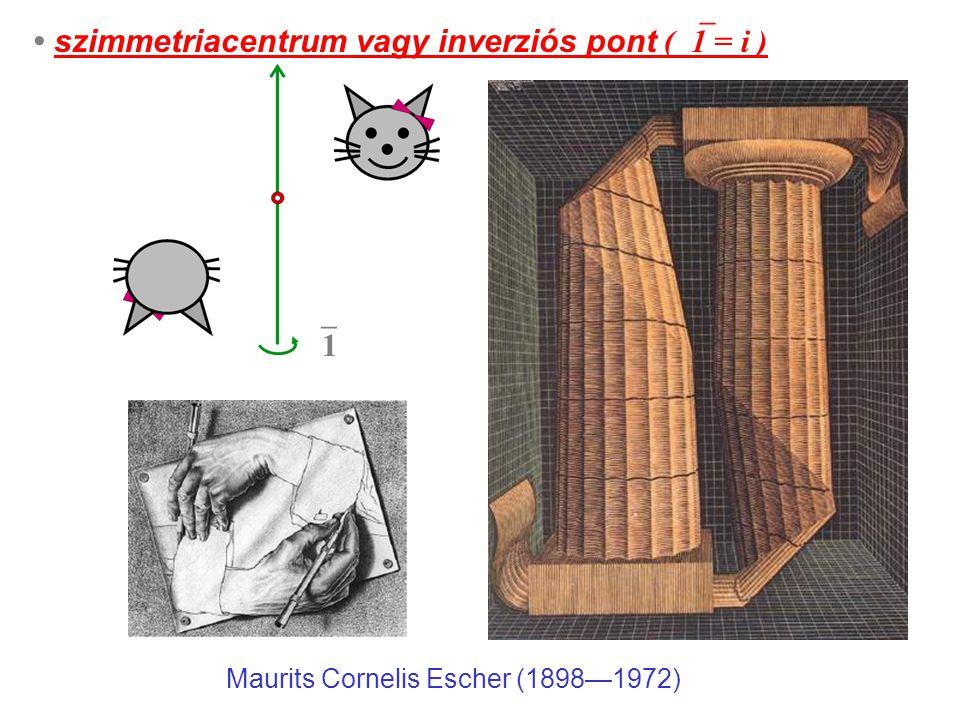 szimmetriacentrum vagy inverziós pont (  1 = i ) 11 Maurits Cornelis Escher (1898—1972)
