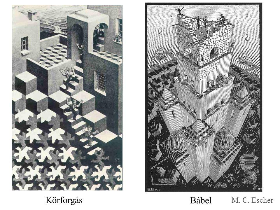 Körforgás Bábel M. C. Escher