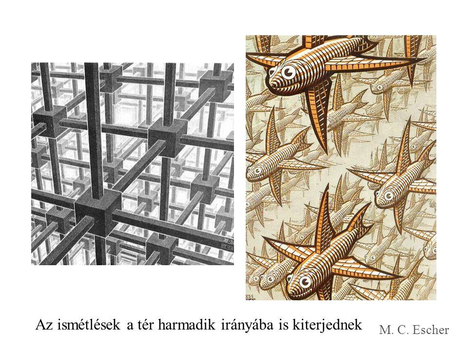 Az ismétlések a tér harmadik irányába is kiterjednek M. C. Escher