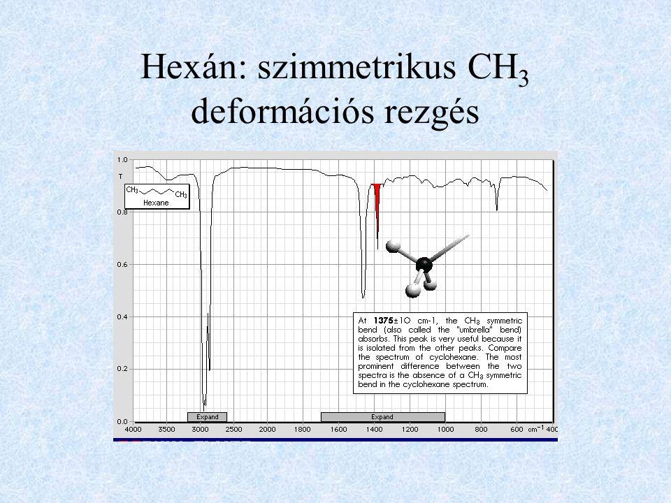 Hexán: szimmetrikus CH 3 deformációs rezgés