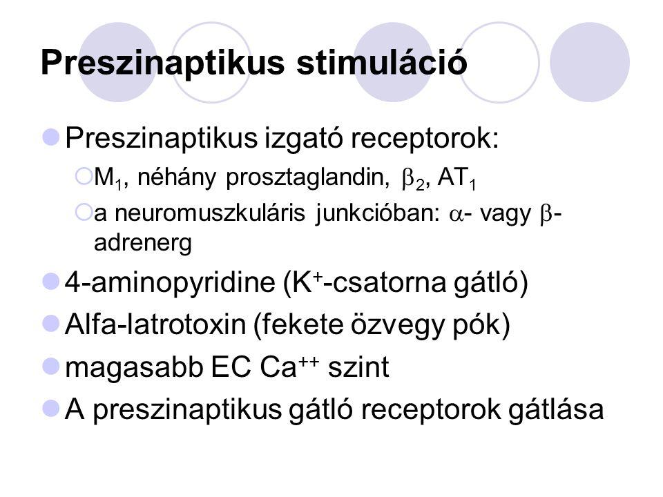 Preszinaptikus gátlás 1.Szintézis: hemicholine 2.