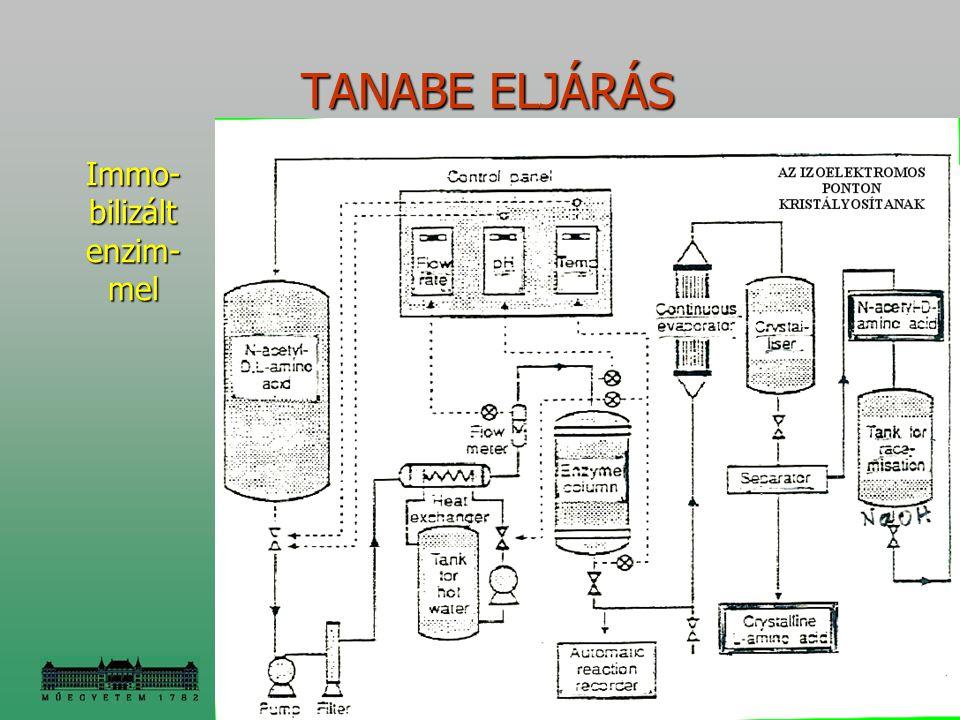 TANABE ELJÁRÁS TANABE ELJÁRÁS Immo- bilizált enzim- mel