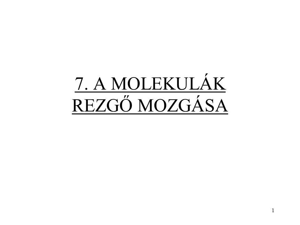 7. A MOLEKULÁK REZGŐ MOZGÁSA 1