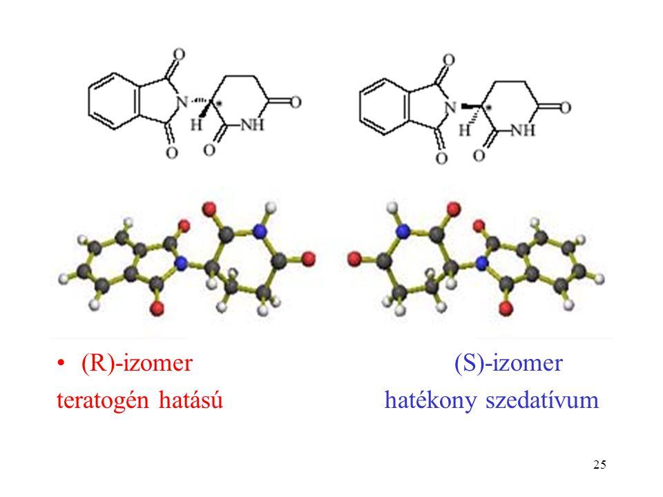 25 (R)-izomer(S)-izomer teratogén hatású hatékony szedatívum