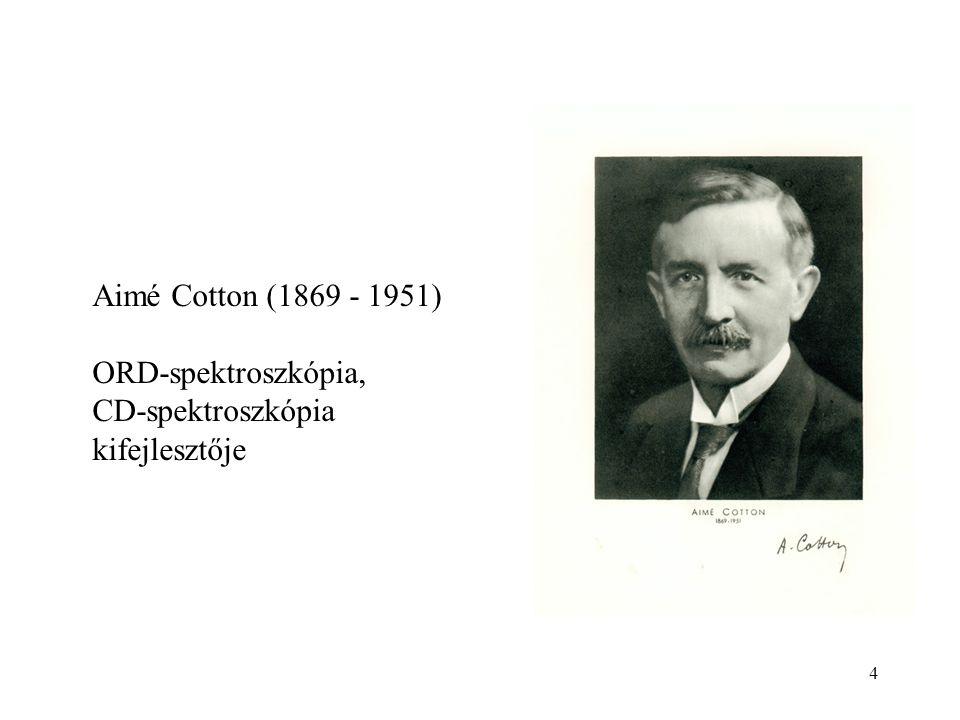 4 Aimé Cotton (1869 - 1951) ORD-spektroszkópia, CD-spektroszkópia kifejlesztője