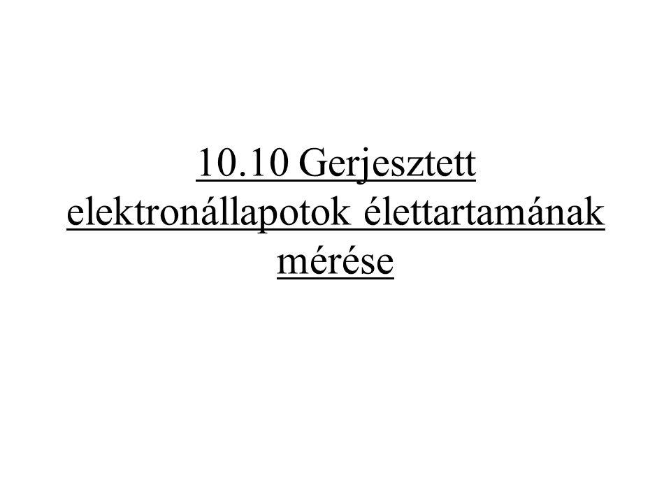 10.10 Gerjesztett elektronállapotok élettartamának mérése
