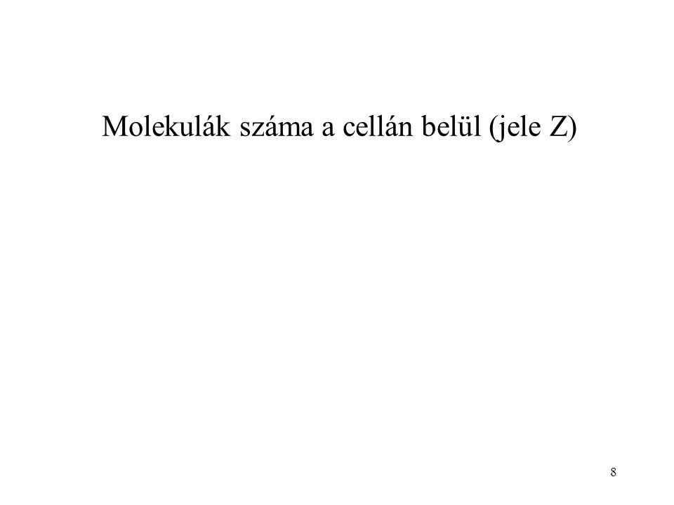 Molekulák száma a cellán belül (jele Z) 8
