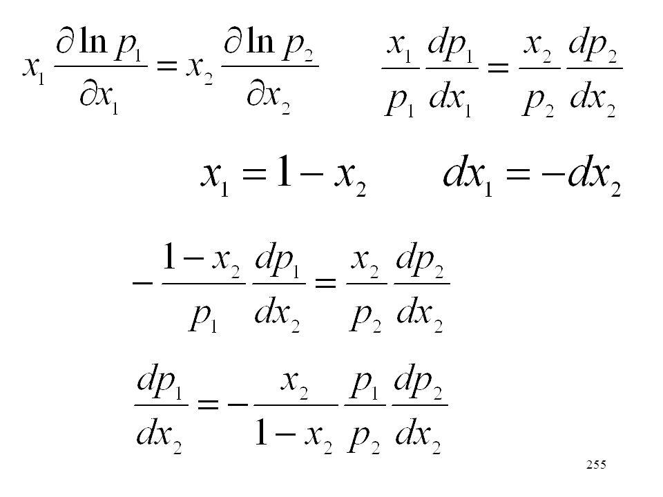 254 Egyensúlyban a kémiai potenciál a folyadék- és gőzfázisban egyenlő.