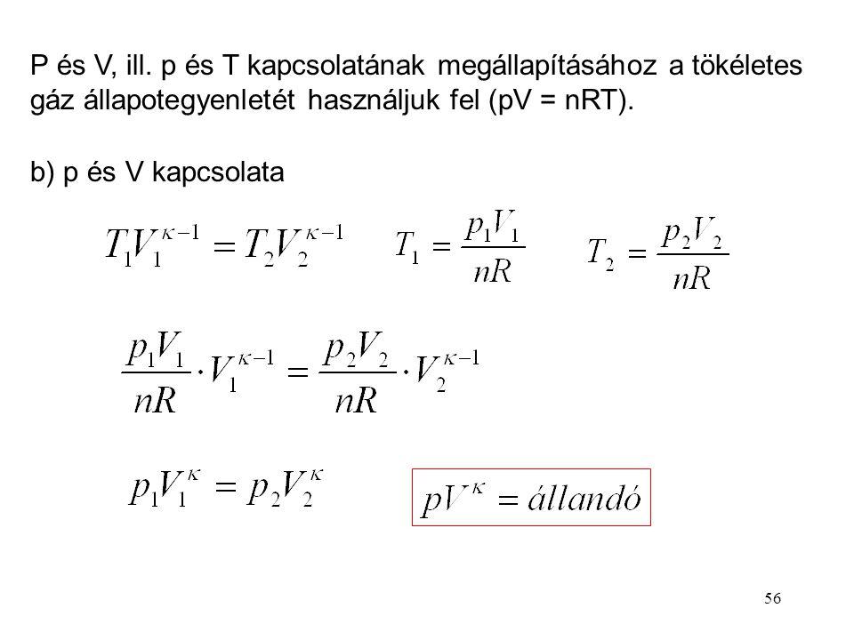 55 C mv -vel átosztunk (Poisson-állandó)