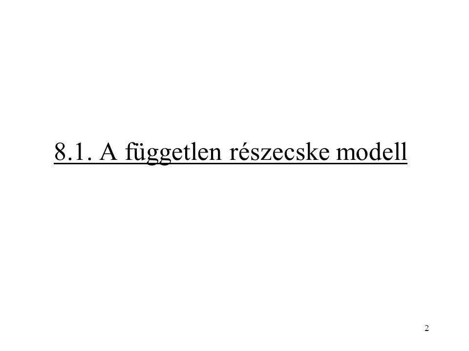 2 8.1. A független részecske modell
