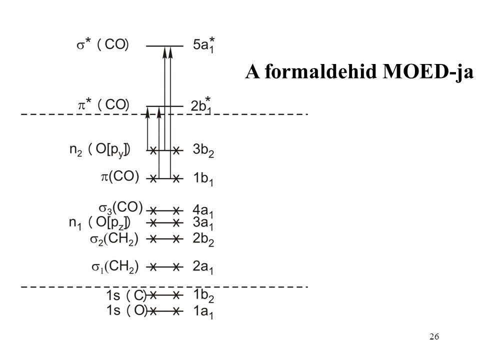 26 A formaldehid MOED-ja