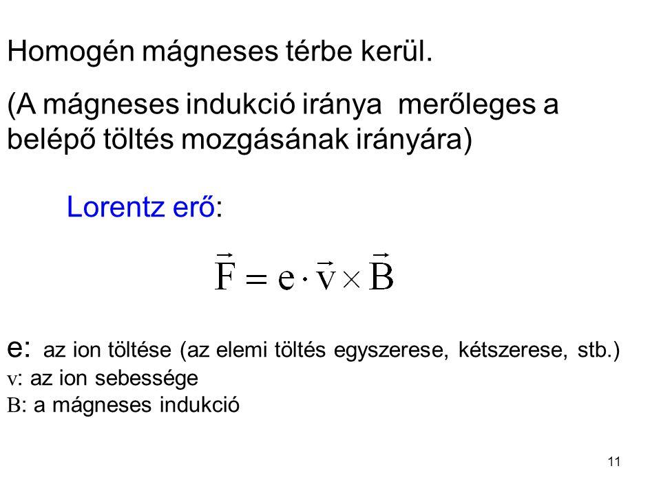 Homogén mágneses térbe kerül.