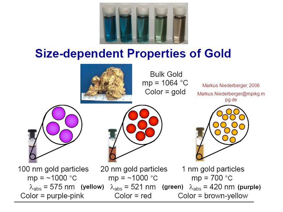 Izometrikus részecskék, monodiszperz arany kolloid, átmérő ca.