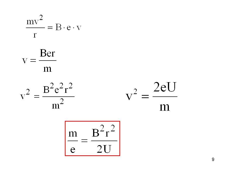 c) Fizikai kémiai felhasználás Ionizációs energia (potenciál) meghatározása Ionizációs potenciál az a minimális energia, amely az ion képződéséhez szükséges.