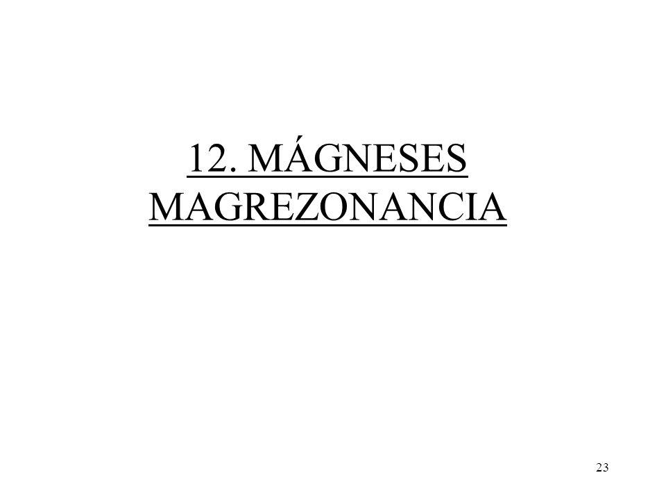 23 12. MÁGNESES MAGREZONANCIA