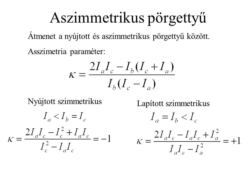 Aszimmetrikus pörgettyű Átmenet a nyújtott és aszimmetrikus pörgettyű között.
