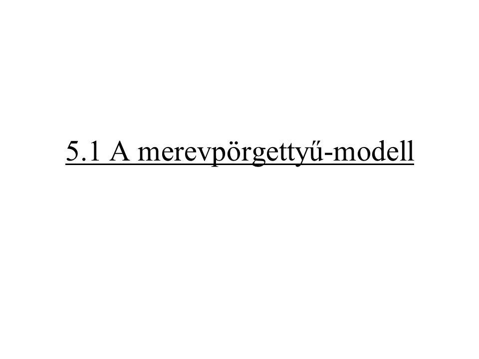 Modell: merev pörgettyű (merev rotátor) Atommagokból álló pontrendszer, amely pörgettyű (tömegközéppontja körül forog) merev (centrifugális erő hatására nem deformálódik, azaz kötésszög és kötéstávolság nem változnak)