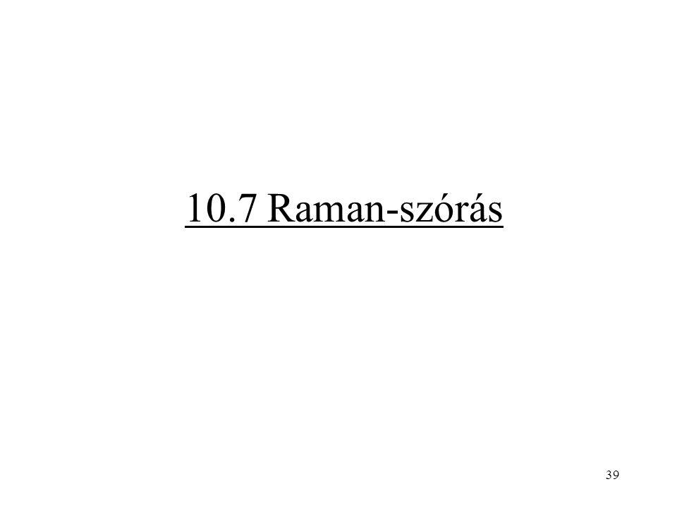 39 10.7 Raman-szórás