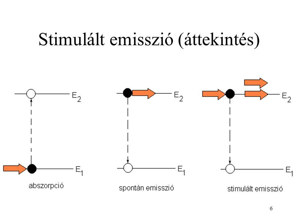 37 Rövid impulzusok Impulzus üzemben működő lézerek tipikusan  s-os (rubinlézer, Nd-YAG-lézer) vagy ns-os (N 2 -lézer) tartományba eső impulzusokat adnak.