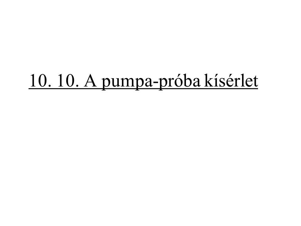 10. 10. A pumpa-próba kísérlet