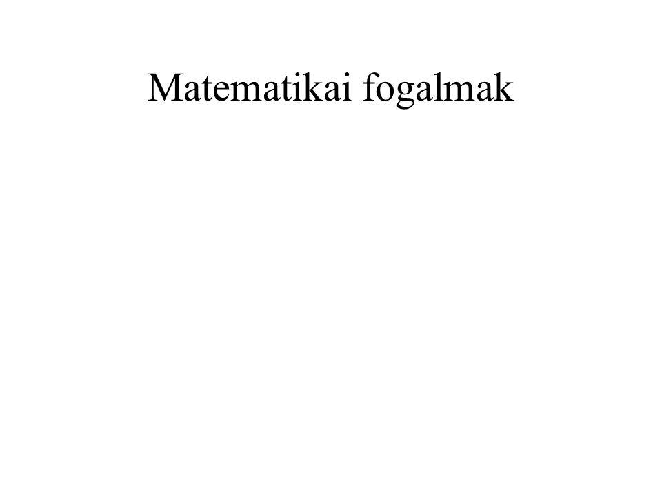 Matematikai fogalmak