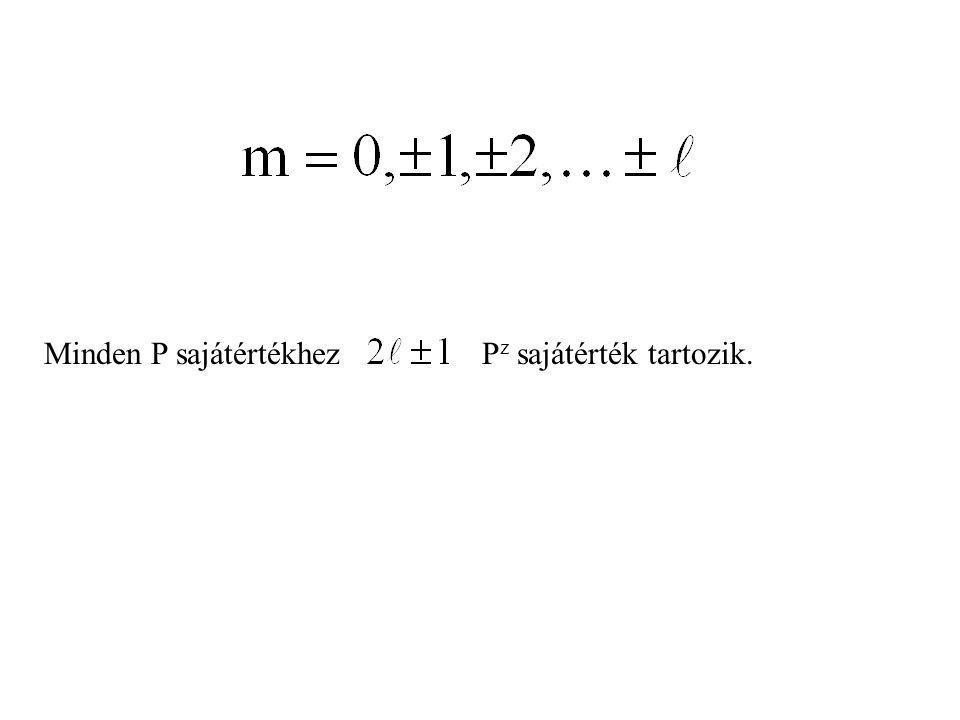 Minden P sajátértékhezP z sajátérték tartozik.