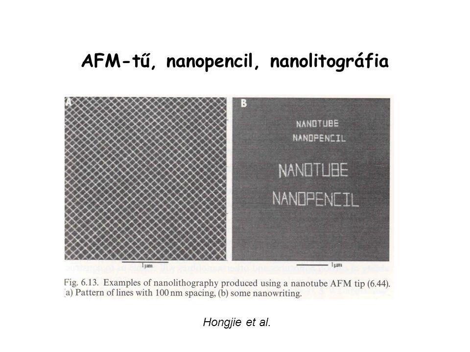 AFM-tű, nanopencil, nanolitográfia Hongjie et al.