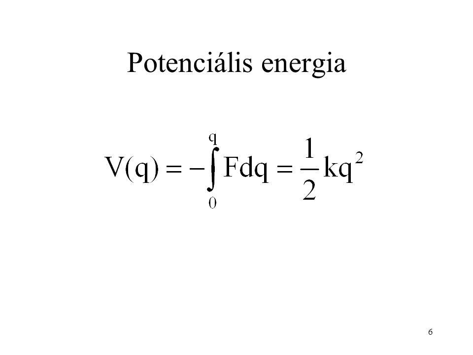 A rezgési frekvencia : saját frekvencia : redukált tömeg Levezethető (l. Fizkém. I.), hogy 7